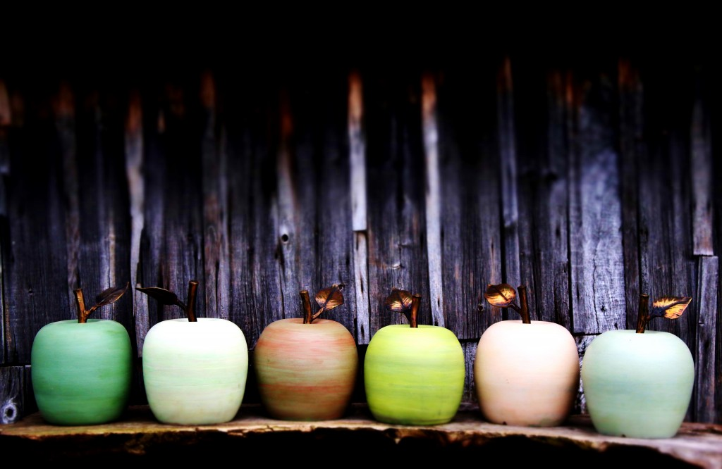 digital sound art ceramic apples by jon williams at the cider museum hereford