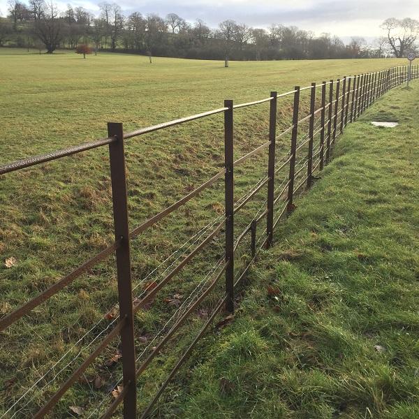 deer fencing surrounding eastnor deer park