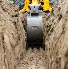 jcb digging footings for foundations